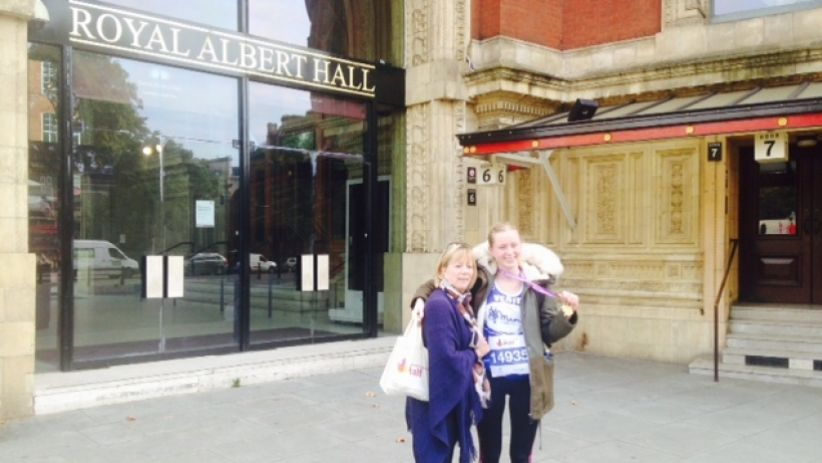 Outside the Albert Hall